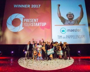 Present Your Startup 2017 winners: Maester, Tinkr and Stagefinder.nl